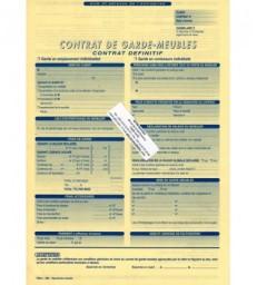 Contrat garde meubles (par pack de 100)