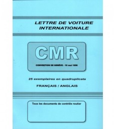 Lettre de voiture internationale CMR (carnet de 25 ex.) grand format 210 x 297