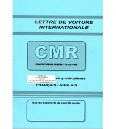 Lettre de voiture internationale CMR (carnet de 50 ex.) grand format 210 x 297
