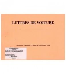 Lettre de voiture nationale LVN (carnet de 25 ex. X5 petit format personnalisés)