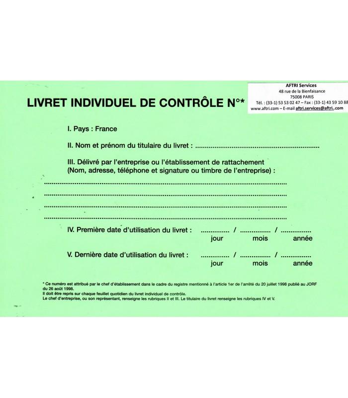 Livret individuel de contrôle (marchandises)