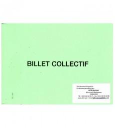 Billets collectifs - Format 15 x 21