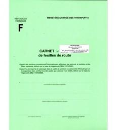 Carnet de feuilles de route CEE (carnet de 25 feuillets)