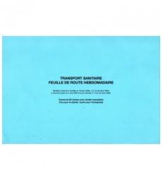 Transport Sanitaire - Feuille de route hebdomadaire carnets de 50 liasses