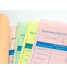 Carnet fiche palettesCarnet de 25 liasses en 4 exemplaires