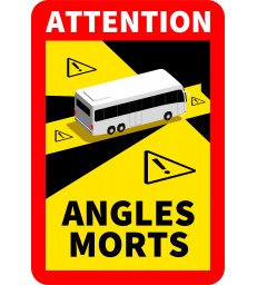 Signalisation ANGLES MORTS des véhicules lourds