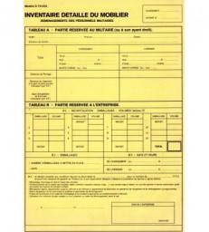Inventaire garde meuble militaire (par pack de 100)