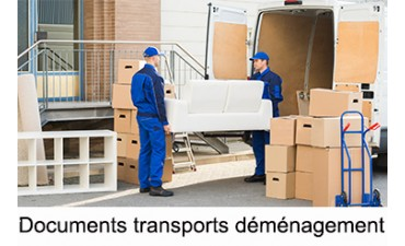 Documents transports déménagement