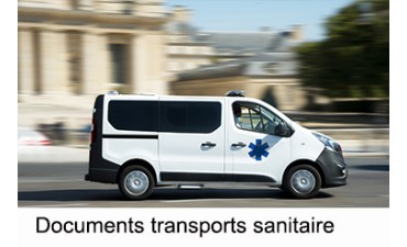 Documents transports sanitaire